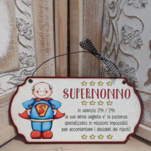 """targhetta """"supernonno"""""""